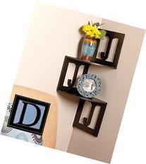 Monogram Corner Wall Shelves - Letter D