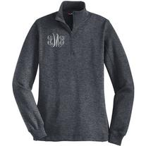 On Ladies Monogrammed Quarter Zip Pullover Monogram Quarter