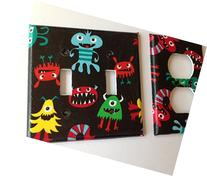 Monster Light Switch Plate Cover -Various Sizes