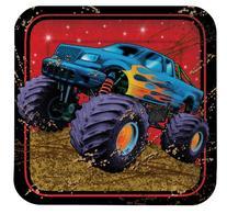 Creative Converting BB021366 Monster Truck Cake Plates - 8-