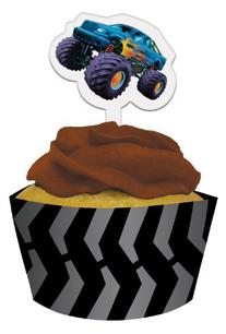 Monster Truck Cupcake Wraps With Picks