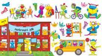 Monsters Back to School Bulletin Board