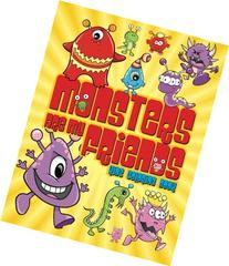 Monsters Are My Friends Kids Coloring Book
