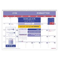 AT-A-GLANCE Monthly Desk and Wall Calendar, Academic Year,