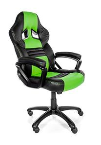 Arozzi Monza Series Gaming Racing Style Swivel Chair, Green/