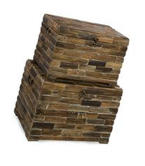 IMAX 74018-2 Moreton Wood Chests, 2-Pack