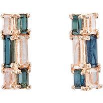 Nak Armstrong Women's Mosaic Bar Stud Earrings
