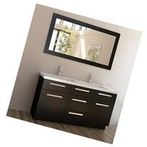 Moscony 60 Double Sink Vanity Set, Espresso