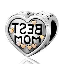 Pugster Heart Mom Love Charm Sale Jewelry Beads Fit Pandora
