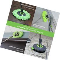 LINKYO Spin Mop Bucket System - Microfiber Mop with Easy