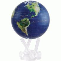 "4.5"" Satellite View with Gold Lettering MOVA Globe"