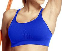 Lupo Women's Top Movement Sports Bra, Royal Blue Large