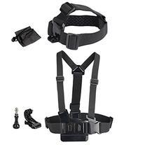 Newmowa Head Strap Belt Mount+Chest Belt Strap Harness Mount