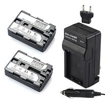 Newmowa NP-FM50 Battery  and Charger kit for Sony DVD