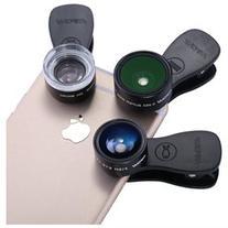 Mpow 3 in 1 Clip-On Lens Kits, 180 Degree Fisheye Lens + 0.