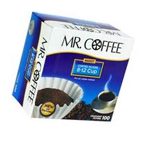 Mr. Coffee Basket Coffee Filters, 8-12 Cup, 100 filters