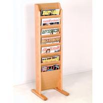 Wooden Mallet MR7-FSLO Cascade Free Standing 7 Pocket