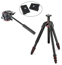 Manfrotto MT190GOATB 190 Go! 4 Section Compact Travel Tripod