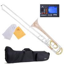 Mendini MTB-33 Intermediate B Flat Tenor Slide Trombone with
