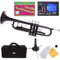 Mendini MTT-PL Purple Lacquer Brass Bb Trumpet + Tuner, Case