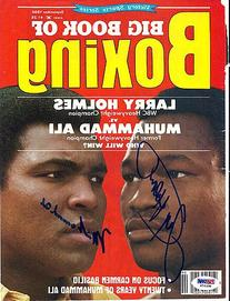 Muhammad Ali & Larry Holmes Autographed Magazine Cover PSA/