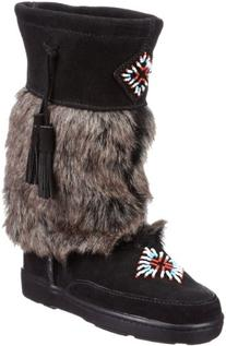 Minnetonka Women's Mukluk High,Black,8 M US