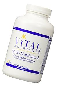 Vital Nutrients - Multi-Nutrients 2 - Citrate/Malate Formula