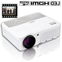 Android WiFi Projector HD 1080P 2600Lumen Support HDMI VGA