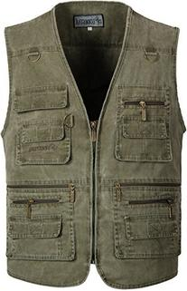 Alipolo Men's Outdoor Multi-pocket Fishing Vest with