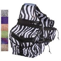 Tough-1 Multi-Pocket Insulated Nylon Saddle Bag - Tooled