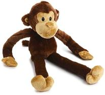 MultiPet 22374 Swingin Safari Monkey Plush Toy