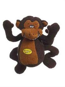 Multipet Deedle Dude 8-Inch Singing Monkey Plush Dog Toy,