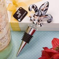 Murano Fleur de lis Wine Bottle Stopper Wedding Favors, 12
