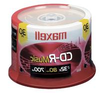 Maxell Music 32x 80 minute / 700MB CD-R Media for Audio - 30