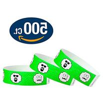 "WristCo Mustache 3/4"" Tyvek Wristbands - 500 Pack Paper"