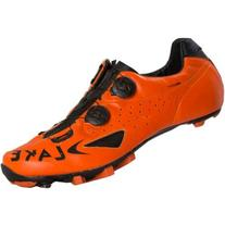 Lake MX237 Cycling Shoe - Men's Orange/Black, 40/Reg