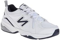 New Balance Men's MX608V4 Training Shoe,White/Navy,14 4E US