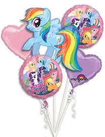 My Little Pony Bouquet of Balloons 1 Supershape , 2 Pink