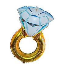 "Premium Mylar ""DIAMOND RING"" Extra Large Romantic Balloons,"