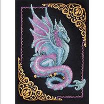 "Mythical Dragon Picture Counted Cross Stitch Kit-11""X15"" 14"