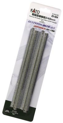 """N 9-3/4"""" Double Track Straight, Concrete Ties"""