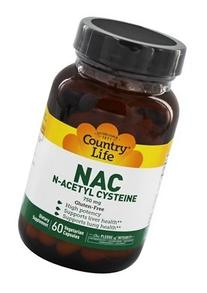 Country Life Nac , 750 mg, 60-Count