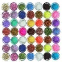CyberStyle 45PC nail art glitter powder dust tips