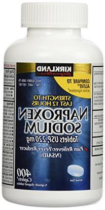 Naproxen Sodium by Kirkland Signature - 400 caplets 220 mg