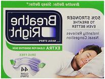 Breathe Right Nasal Strips, Extra Clear for Sensitive Skin,