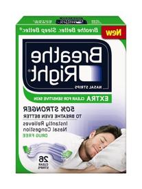 Breathe Right Nasal Strips EXTRA CLEAR For SENSITIVE SKIN