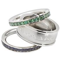 Dale Earnhardt Junior #88 Logo Crystal Stacked Ring Set