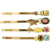 Women's Natasha Couture 4-Pack Floral Bobby Pins
