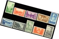 National Parks Imperforate Stamps Set of 10 Stamps Scott 756