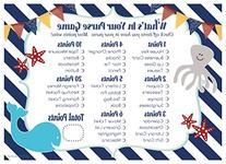 Nautical Whats In Your Purse Baby Shower Game Cards